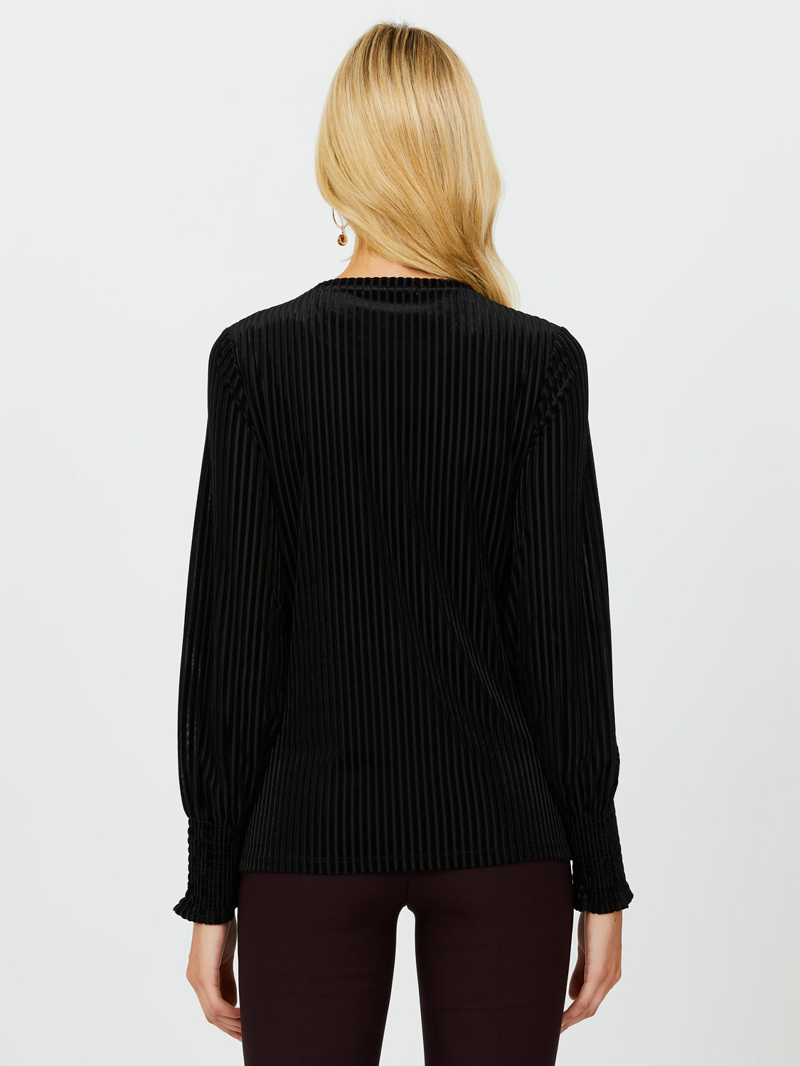 Shadow Stripe Velour Top