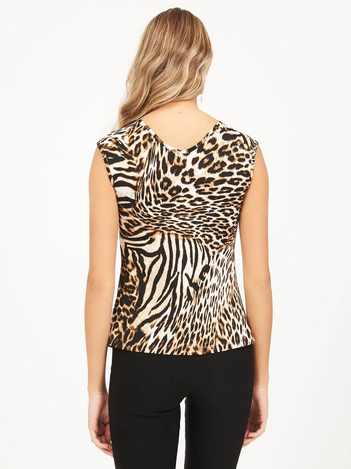 Cap Sleeve Leopard Print O-ring Top