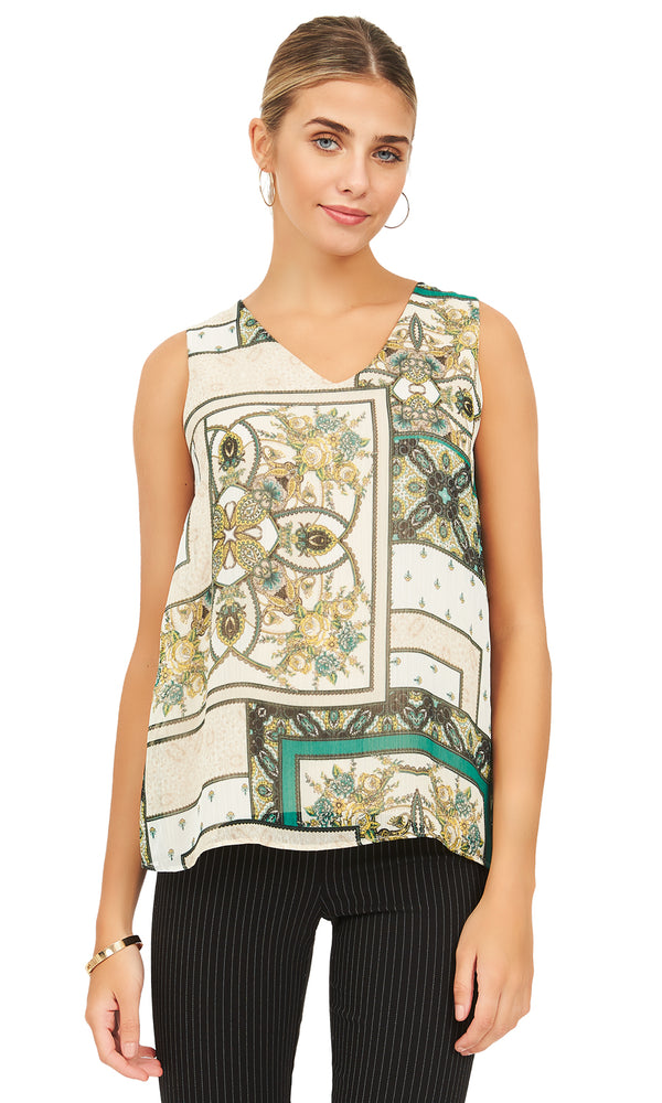 Sleeveless Jersey Asymmetrical Tank Top