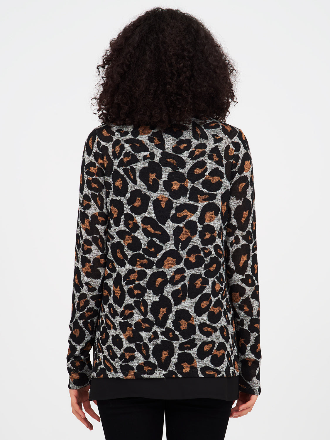 2fer Double Layer Leopard Sweater