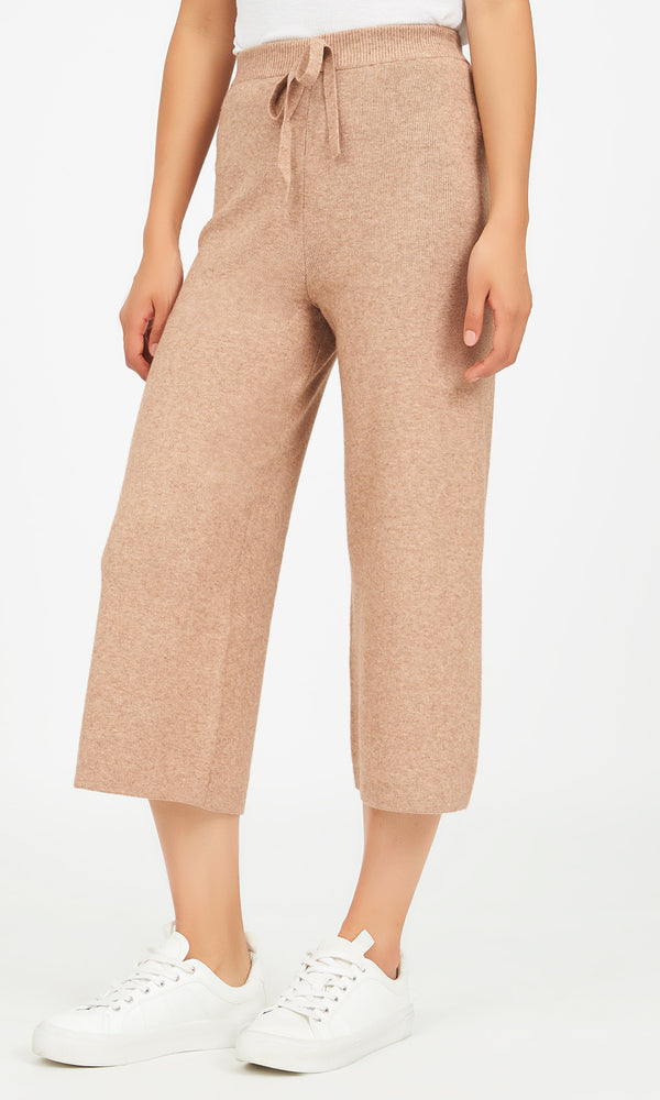 Sweater Knit Gaucho Pants