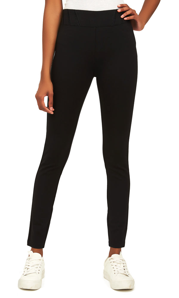 Wide Waistband Skinny Pull-On Pants