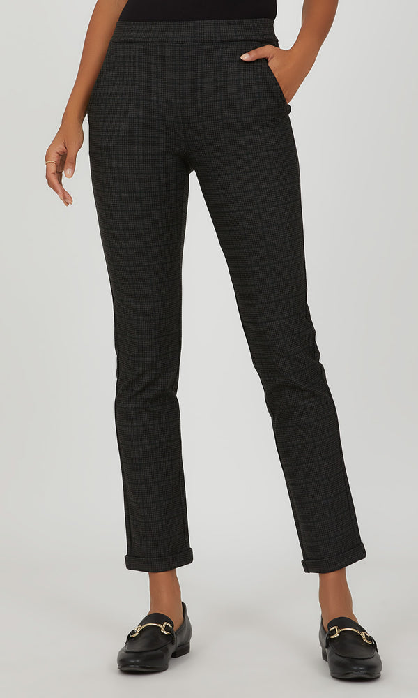 Checkered Slim Trouser
