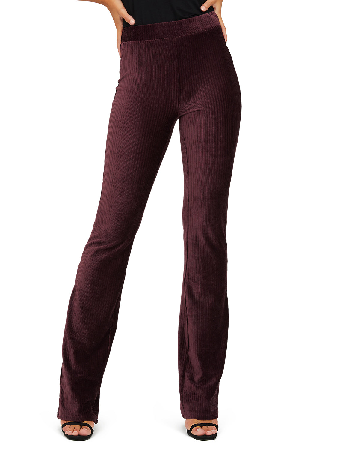 Pantalon jambe large en velours