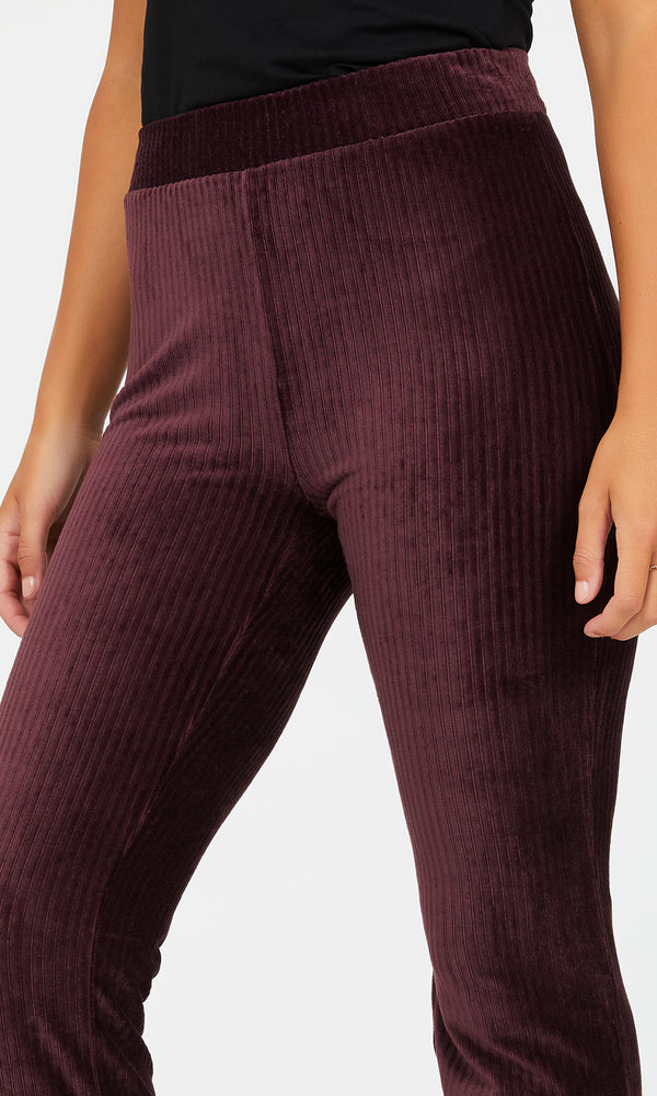 Wide Leg Velour Bottoms