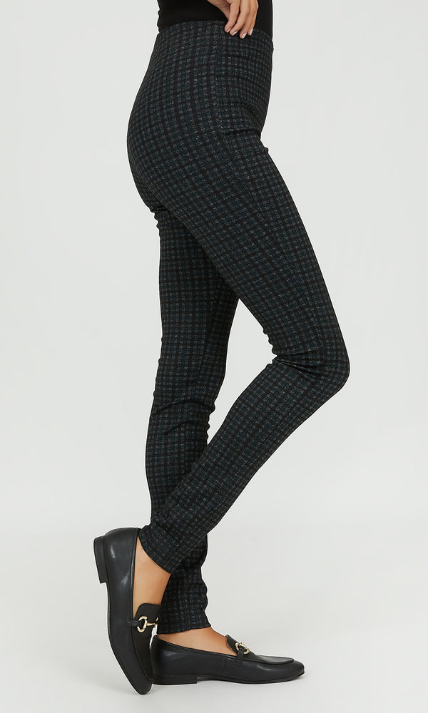 Plaid Skinny Fit Pant
