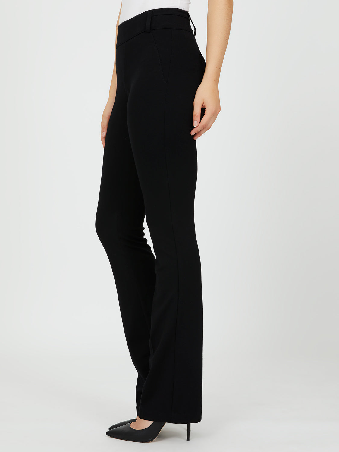 Mid-Rise Bootcut Trousers