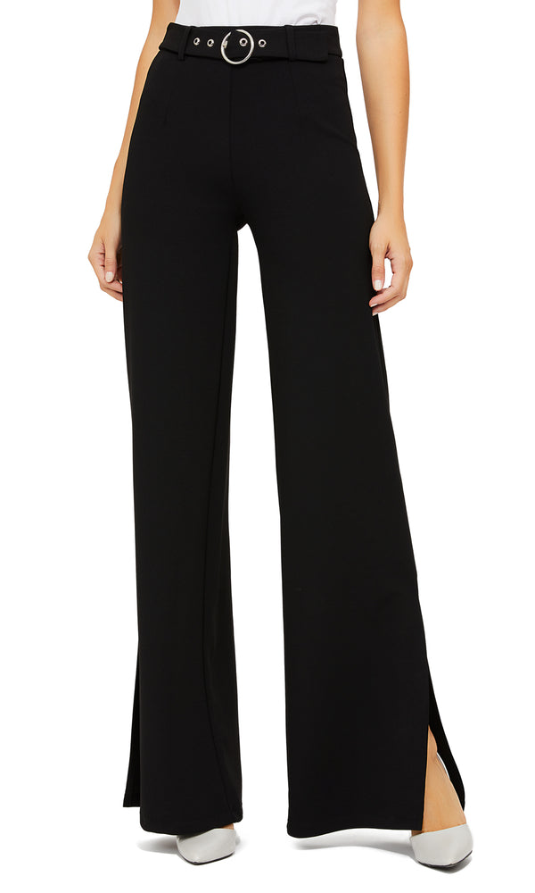 Wide Leg Side Slit Pants