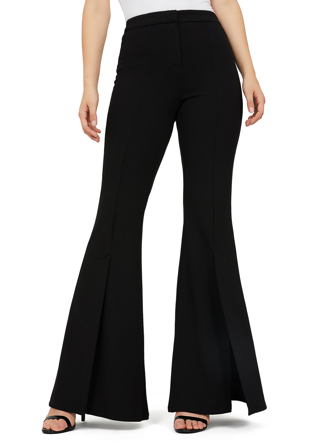 Fitted Crepe Flare Pants