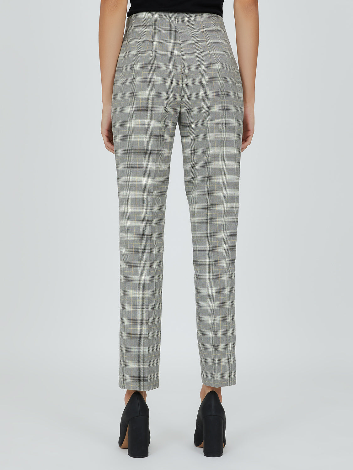 Pantalon cigarette tendance à carreaux