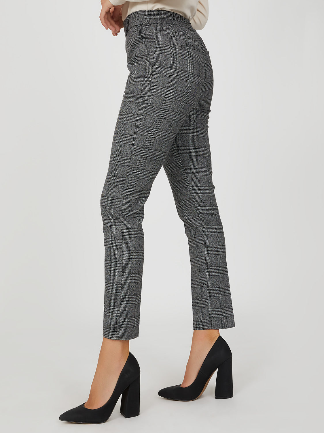Classic Rise Plaid Trouser