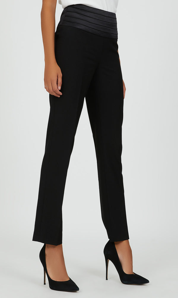 Pantalon de smoking en satin