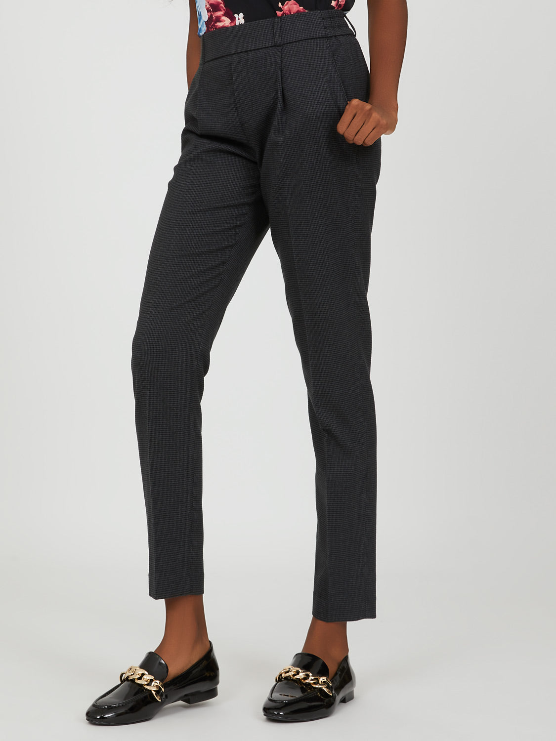 Houndstooth Dressy Jogger Pant