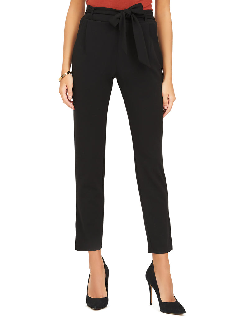 Crepe Ankle Pant With Sash Tie by Suzy Shier