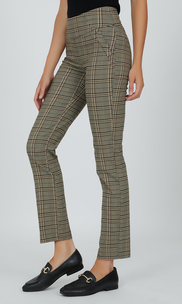 Houndstooth Pull-On Ankle Length Pant