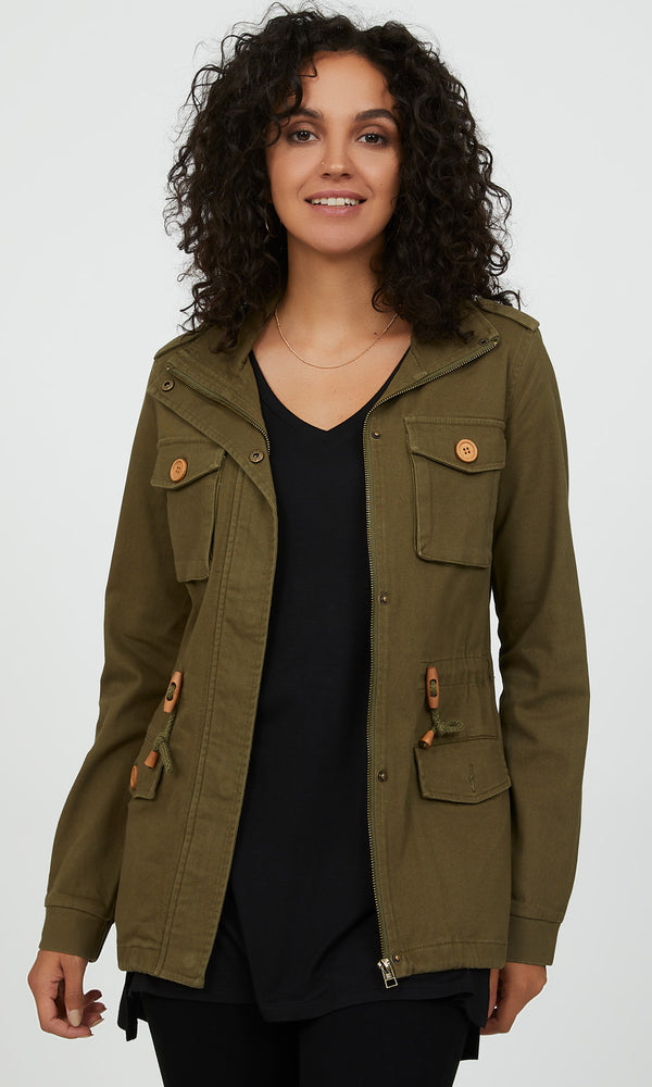Mock Collar City Jacket