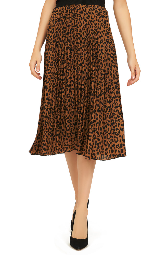 Printed-Chiffon-Skirt-With-Pleats