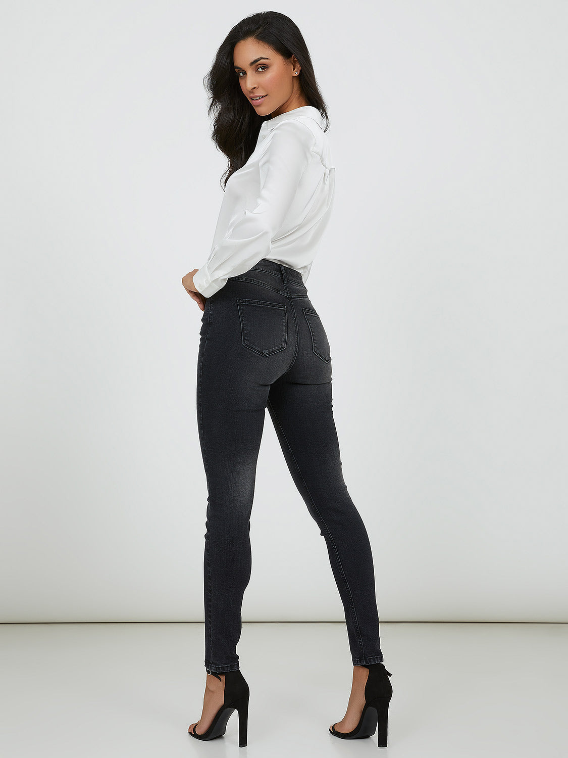 Timeless High Waist Cropped Denim Pant
