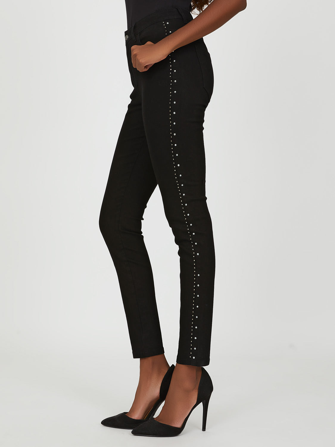 Studded Skinny Denim Pant