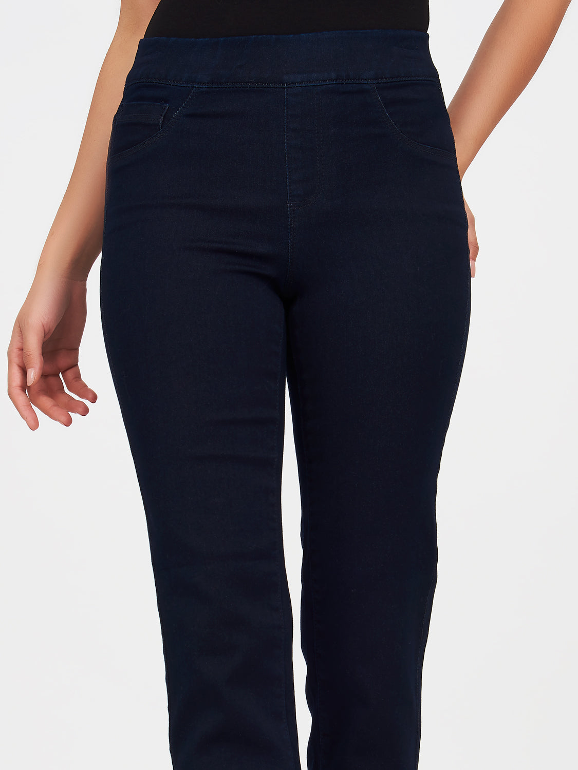 Pull-On Straight Leg Denim