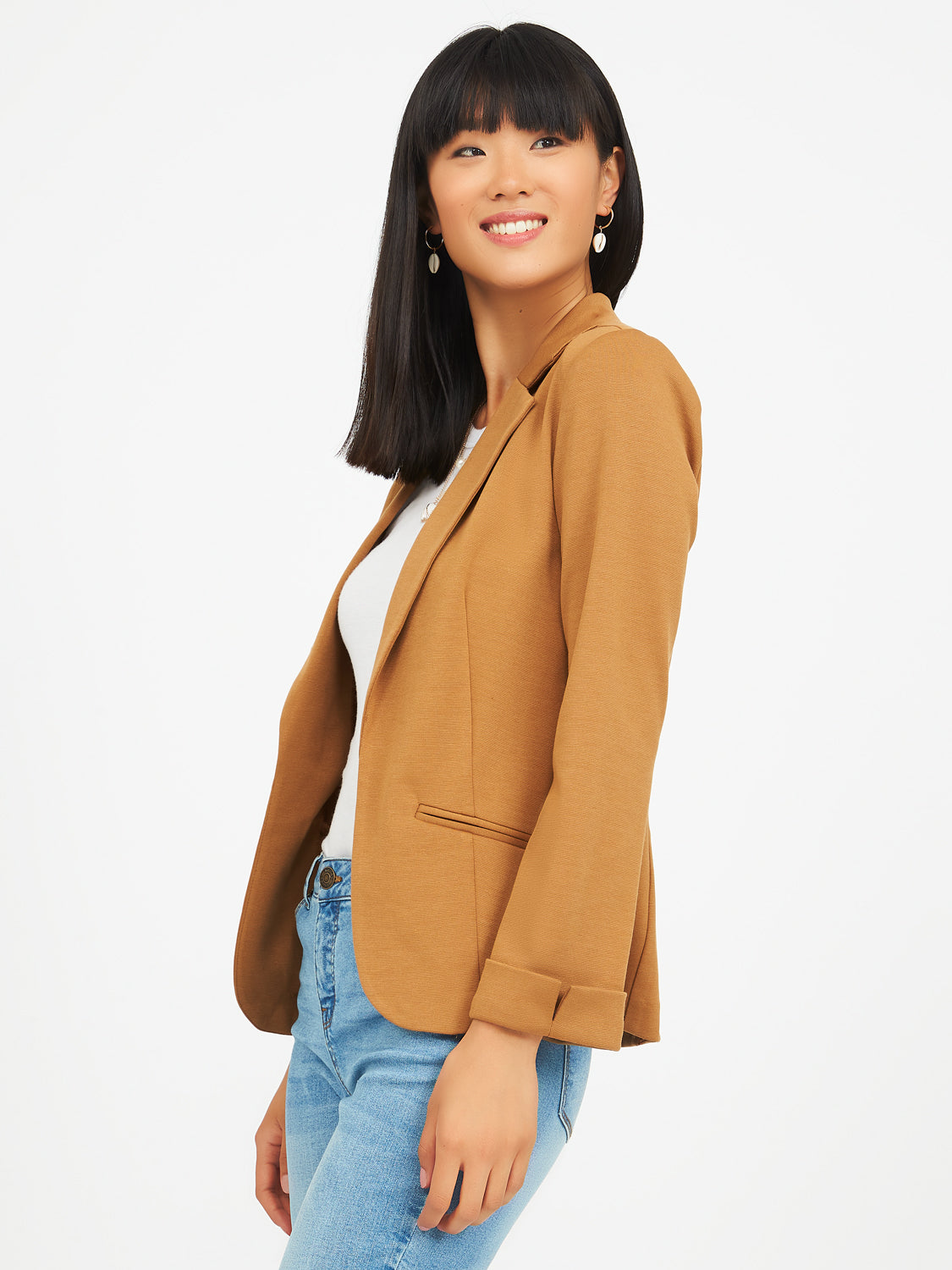 Unlined Knit Blazer