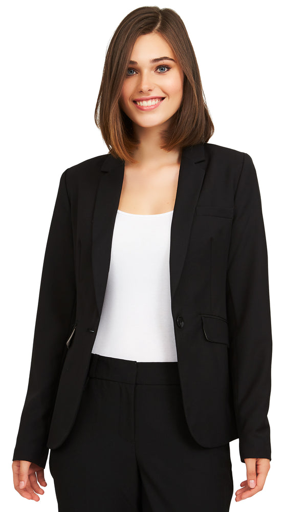 One-Button Closure Blazer