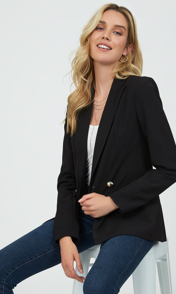Double Breasted Two-Button Closure Blazer