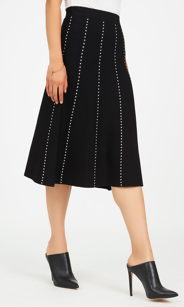 A-Line Sweater Knit Skirt
