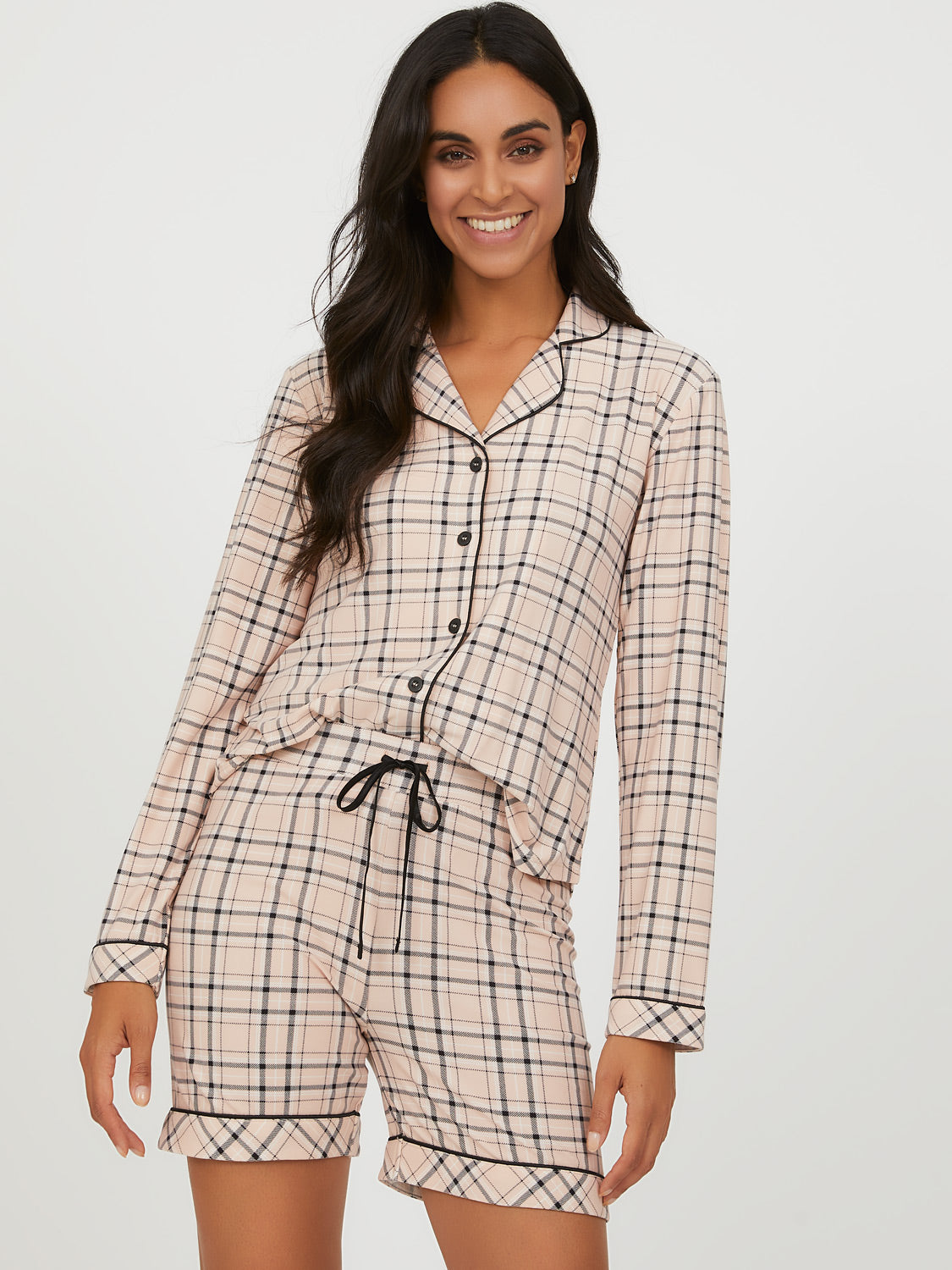 2-Piece Plaid Pyjama Set