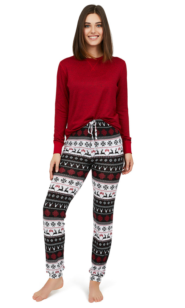 2-Piece Fair Isle Pyjama Set
