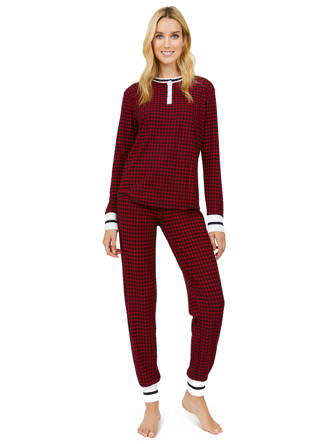 2-Piece Mini Buffalo Check Pyjama Set