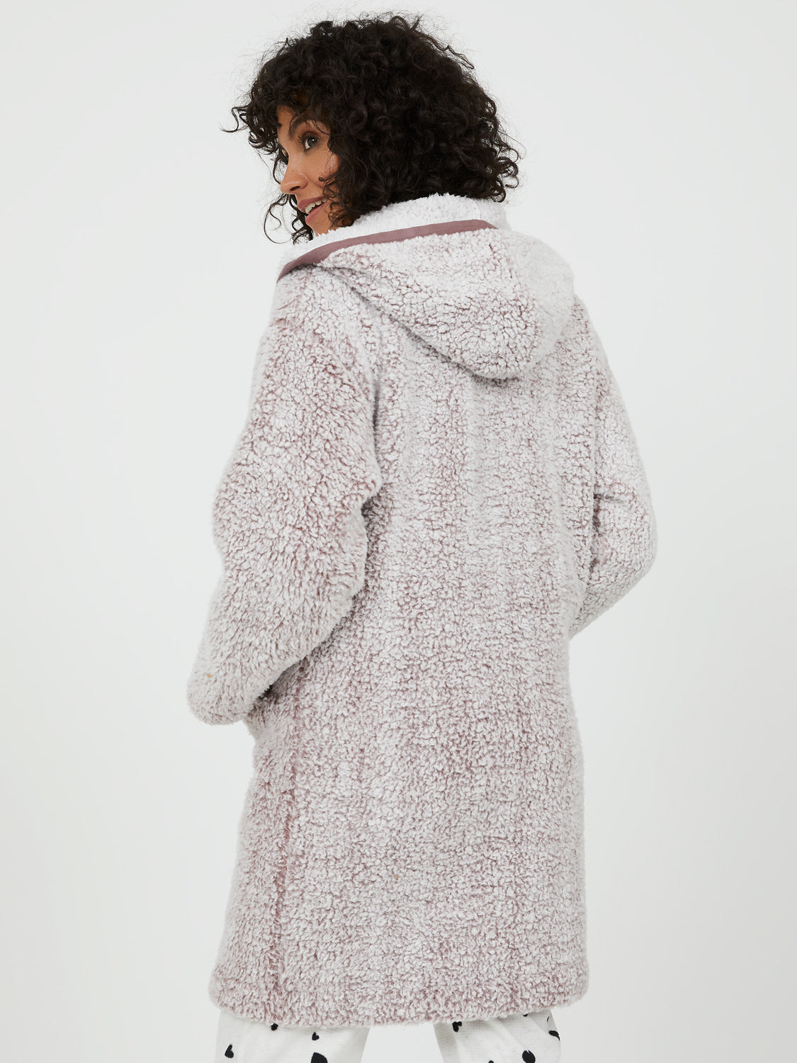 Hooded Sherpa House Coat