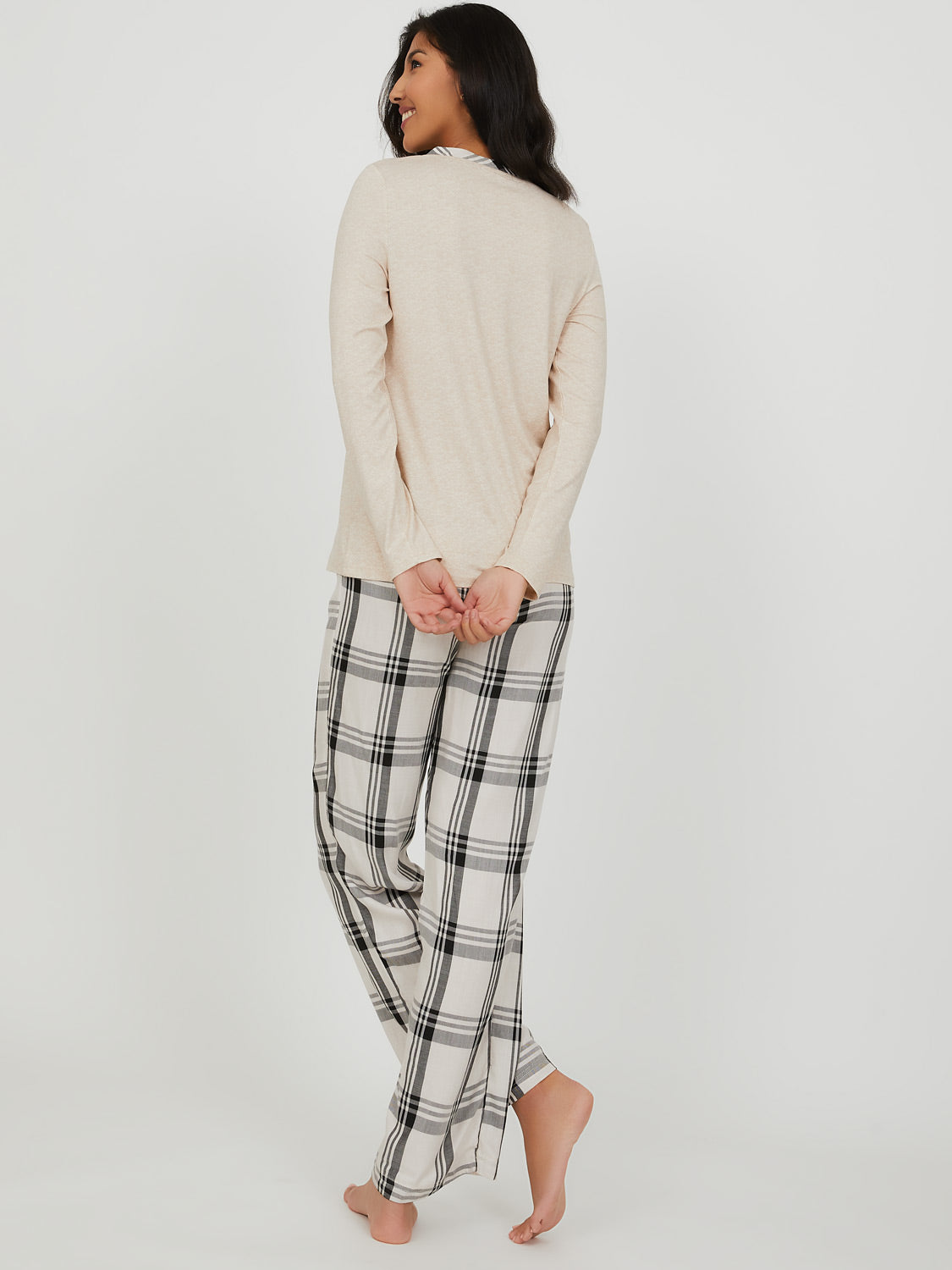 2-Piece Buffalo Check Flannel Pyjama Set