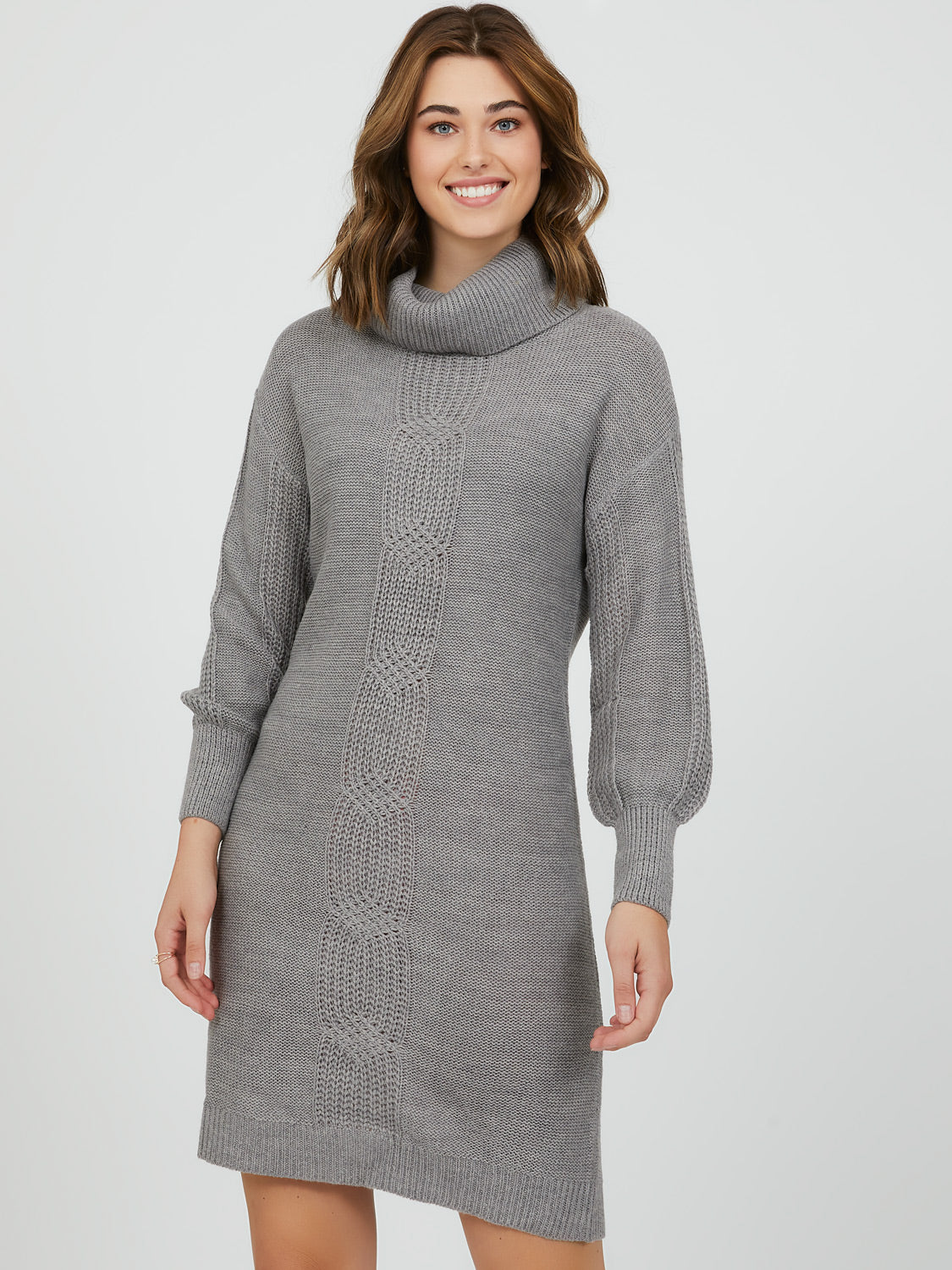 Cable Knit Sweater Mini Dress