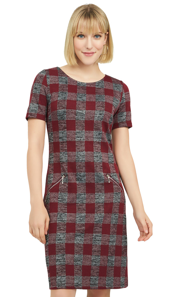 Buffalo Check Sheath Dress