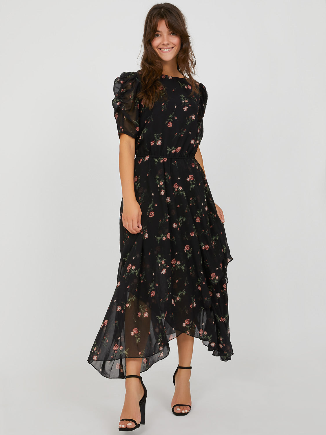 Floral Handkerchief Maxi Dress