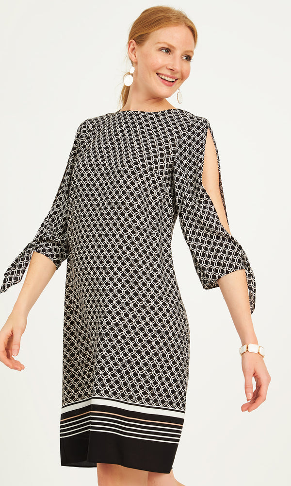 Printed 3/4 Sleeves Sheath