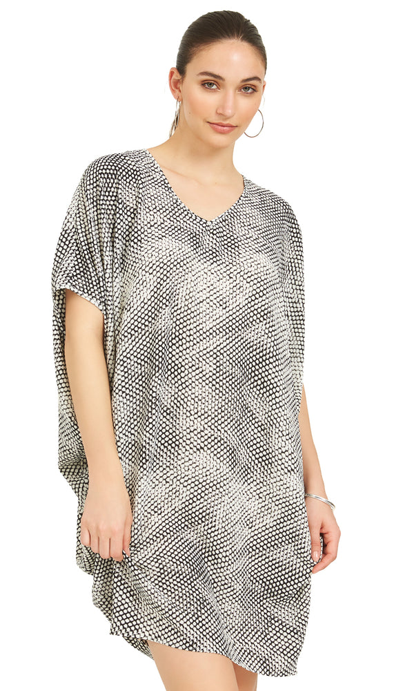 Snake Print Dolman Sleeve Sheath Dress