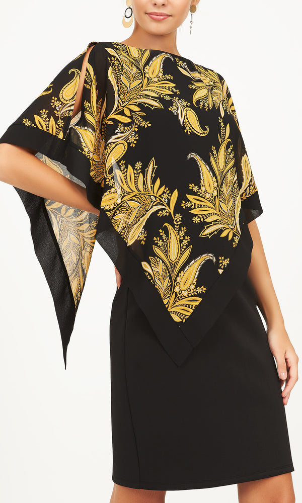 Printed Sheath Chiffon Dress