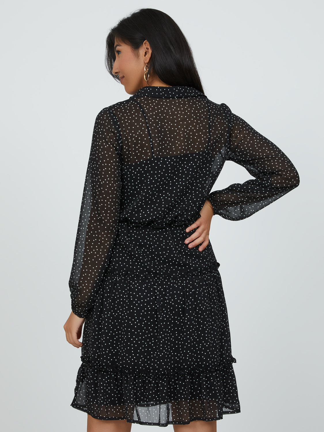 Sweet Spots Mini Shirt Dress