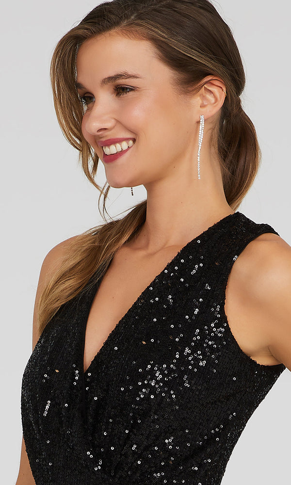 Sequin Wide Leg Jumpsuit