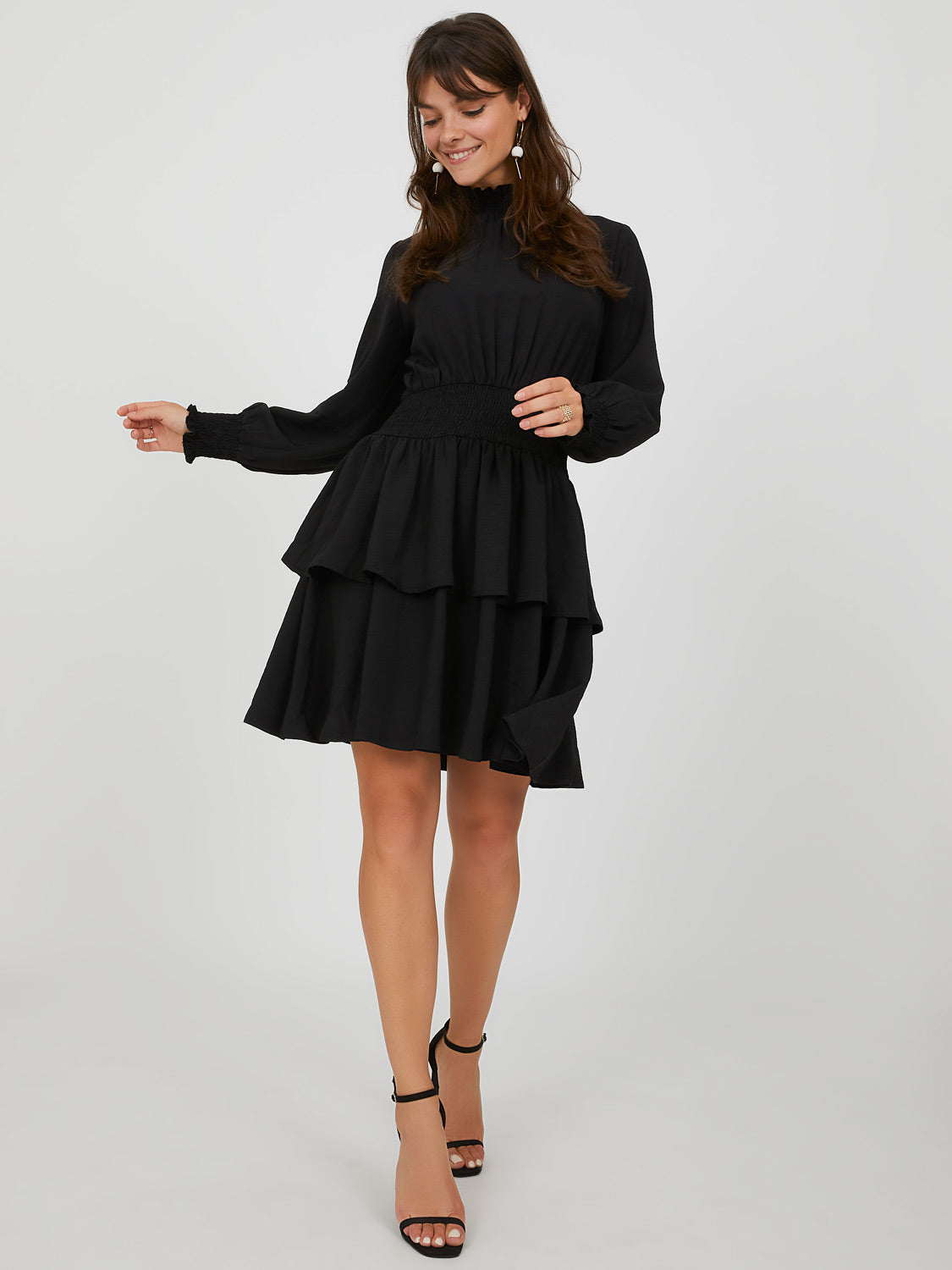 Fit & Flare Ruffle Mini Dress