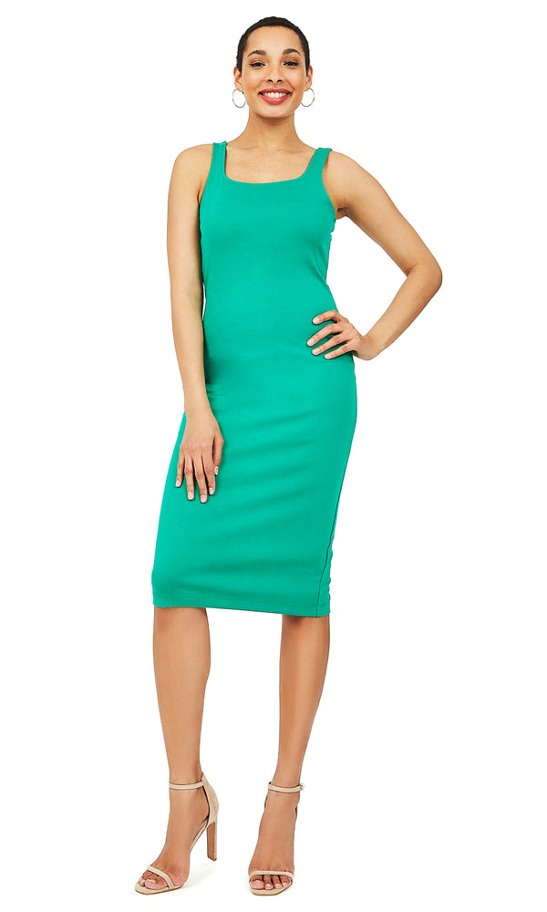 Sleeveless Midi Sheath Dress