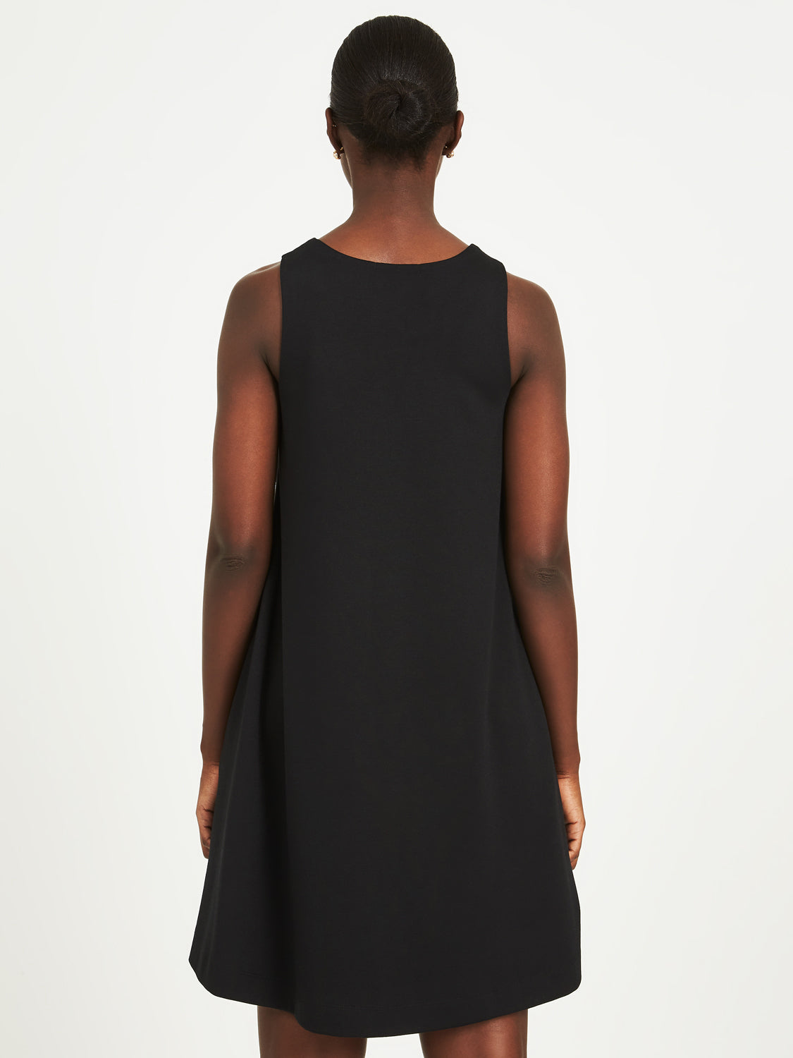 Solid Sleeveless A-Line Dress