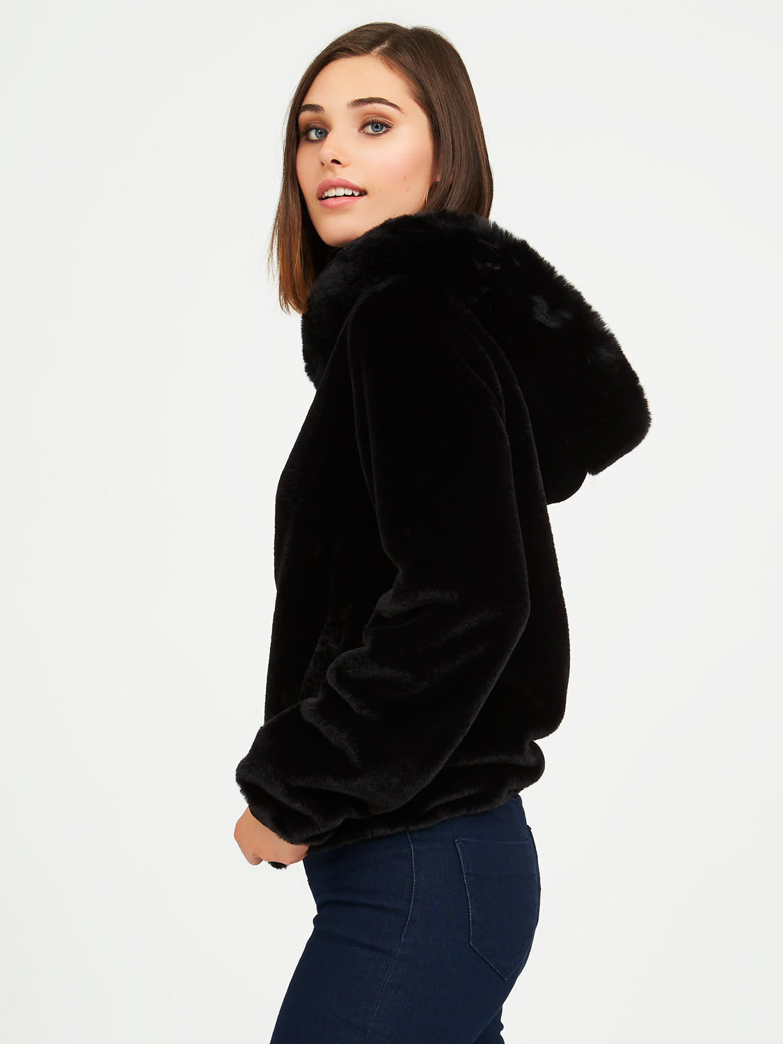 Faux Fur Hooded Jacket