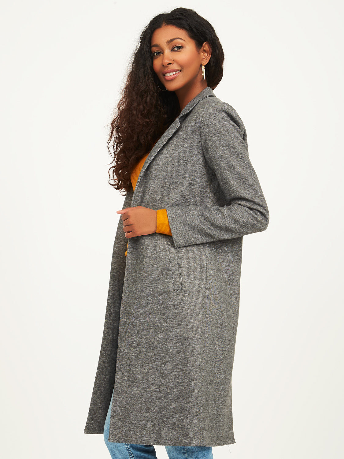 Long manteau en polaire