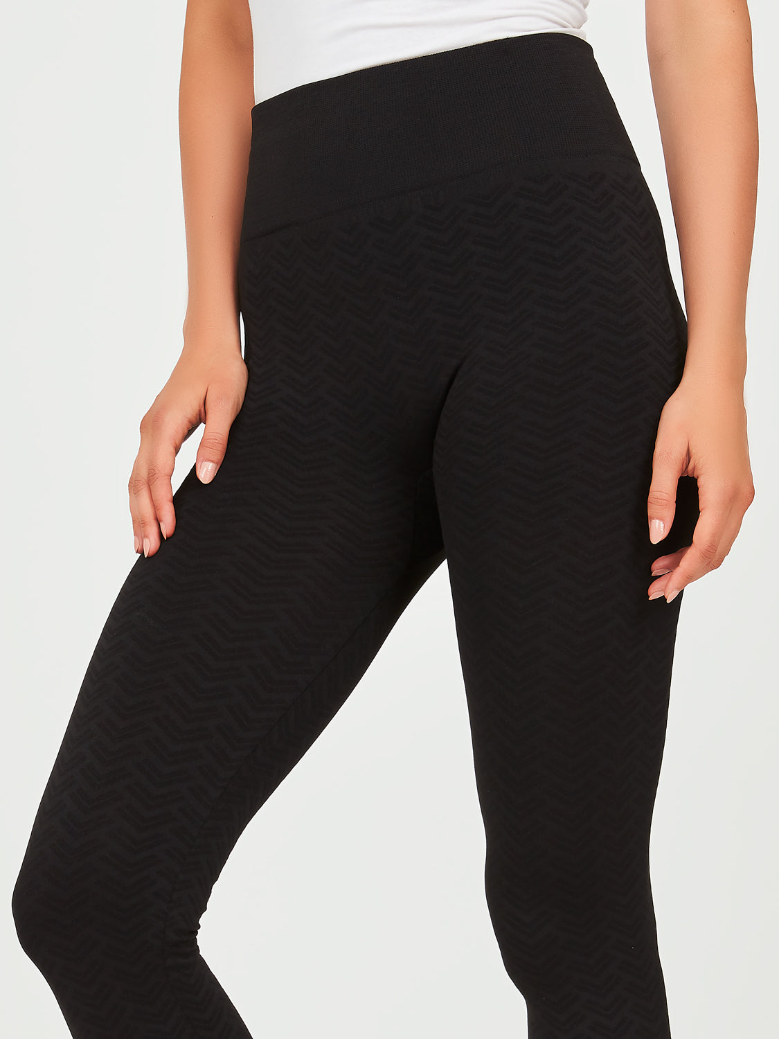 Patterned Brushed Back Leggings