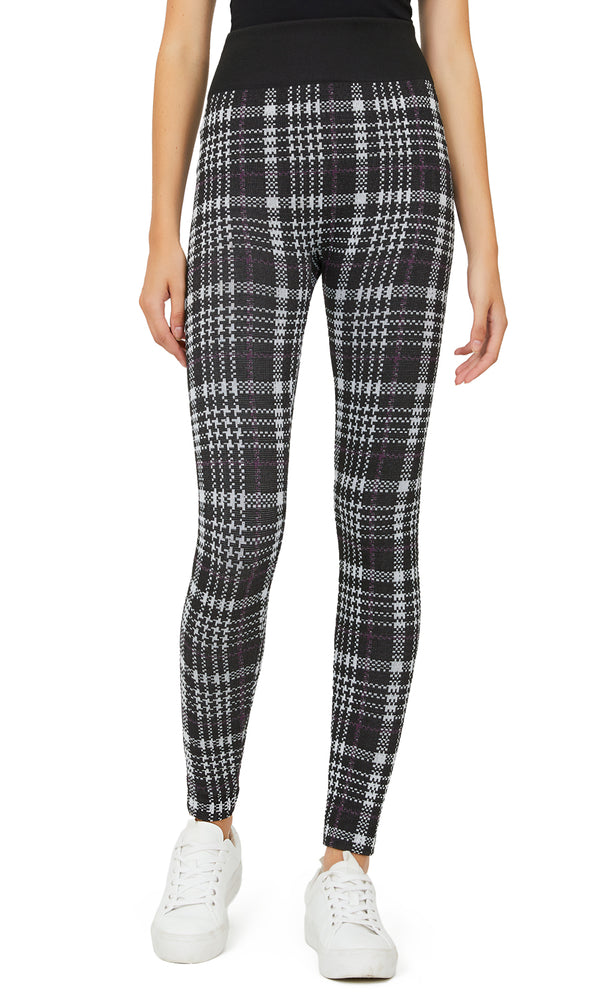 Glen Plaid Patterned Leggings
