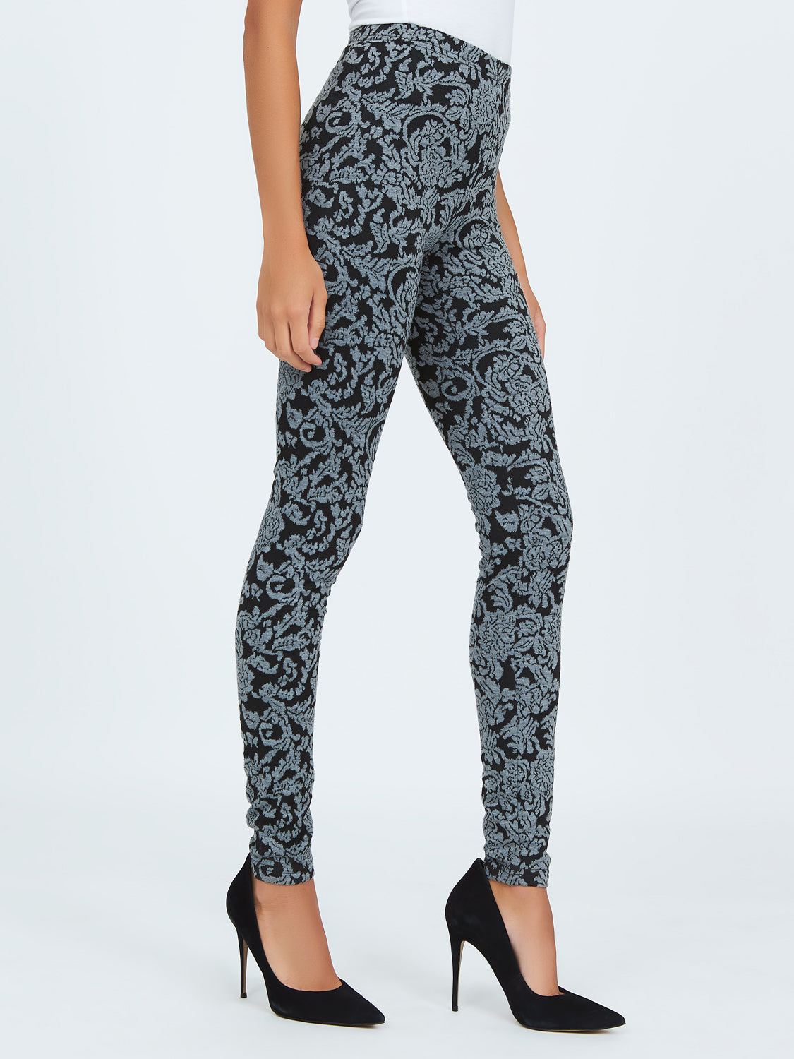Jacquard Brocade Printed Leggings
