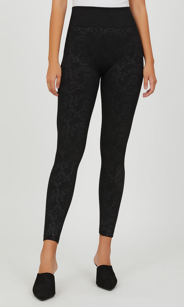 Embossed Baroque Fleece Legging